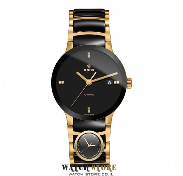 הגדול שעון ראדו אוטומטי משובץ 8 יהלומים לבנים | שעוני ראדו זהב משולב DG-64