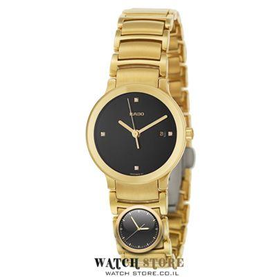 סופר שעוני ראדו | דגם סנטריקס נשים זהב משובץ | WATCHSTORE.CO.IL LA-08