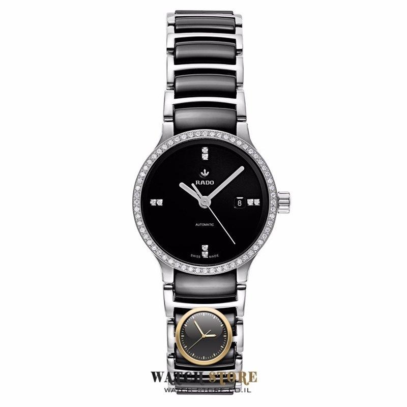 להפליא שעון ראדו אוטומטי קרמיקה דגמי 2016 - 2017 לנשים | דגם יהלומים Rado CN-18