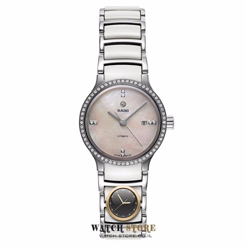 מפואר שעון ראדו דגמים חדשים לנשים | אוטומטי משובץ 68 יהלומים בקרמיקה DF-81