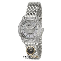 שעון בולובה לאישה בשיבוץ יהלומים \Bulova Women's 96R153 'Precisionist' Stainless Steel/ Diamond Bezel Watch